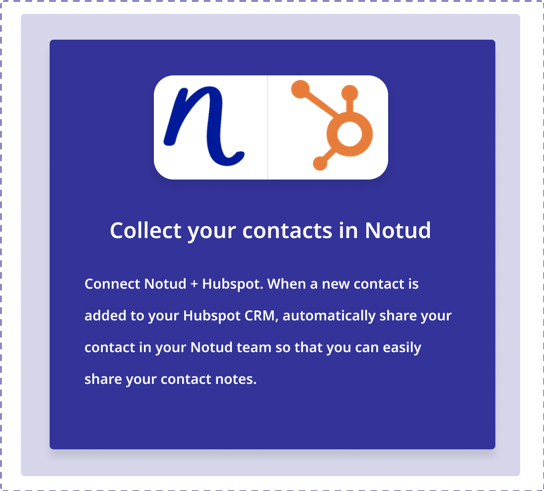 Connect Notud to HubSpot